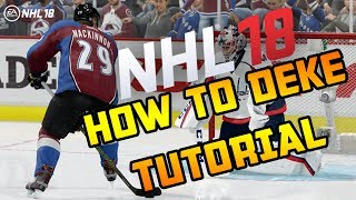 NHL 18 | HOW TO DO ALL DEKES TUTORIAL