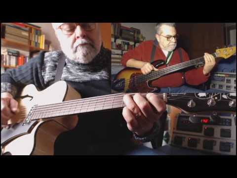 Enjoy the silence 2 alone 2013 hofner blue tone archtop guitar 1978 fender jazz bass fretless