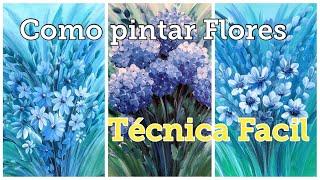 COMO PINTAR FLORES - 3 IDEAS, FÁCIL Y RÁPIDO- como pintar margaritas y hortensias!! Te encantará 😊