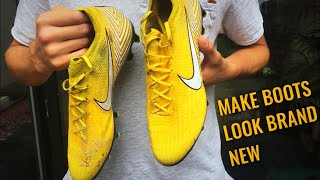 HOW TO CLEAN YOUR FOOTBALL BOOTS! Make them look BRAND NEW! football tutorials! Nike football
