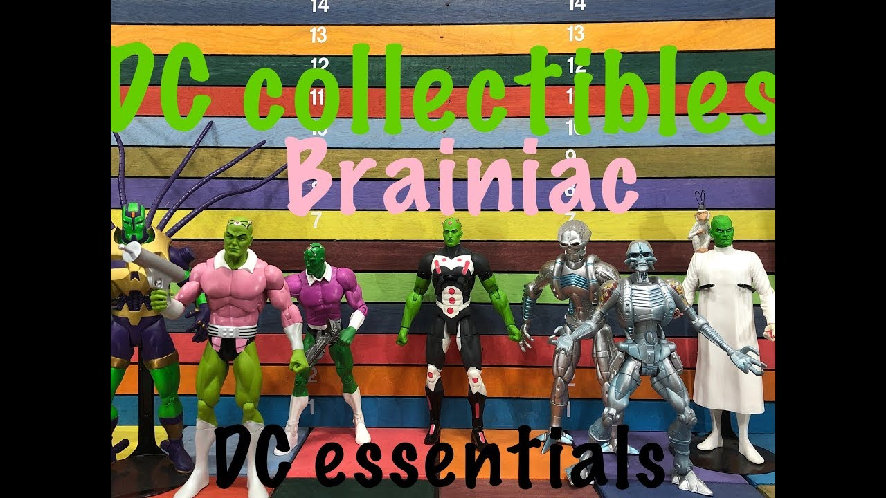 "2018 DC Direct Essentials 20 Years 6.97/"" Inch Figure Icons MOC New #6 BRAINIAC"