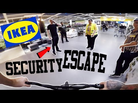 *SECURITY ESCAPE* RIDING A BIKE IN IKEA!