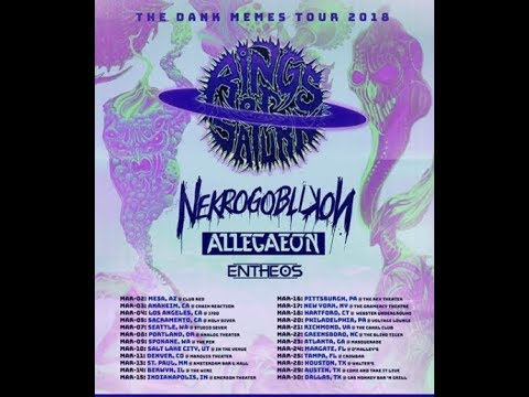 Rings Of Saturn have announced a tour with Nekrogoblikon, Allegaeon and Entheos tour!