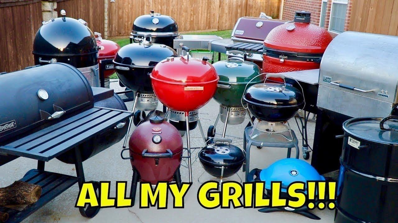 All My Grills! Big Green Egg, Kamado Joe, Weber Summit Charcoal ...