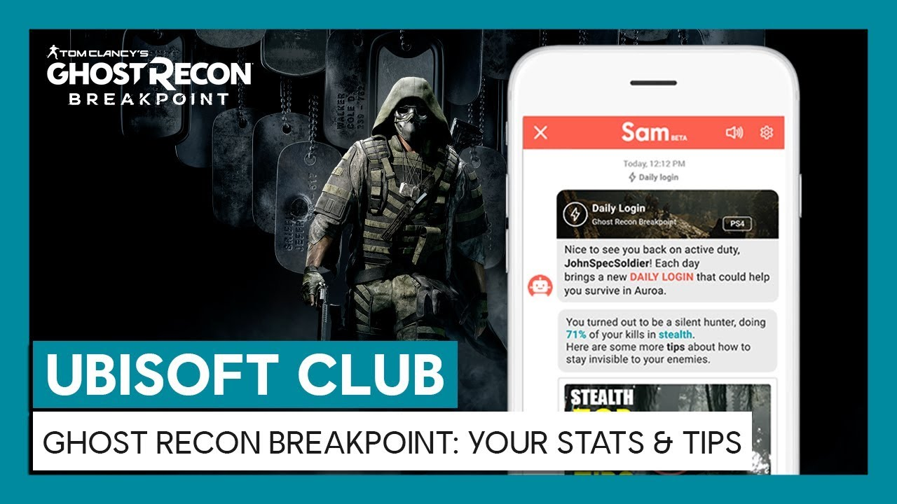 UBISOFT CLUB DAILY LOGIN : Your in-game progression & tips for Ghost Recon Breakpoint