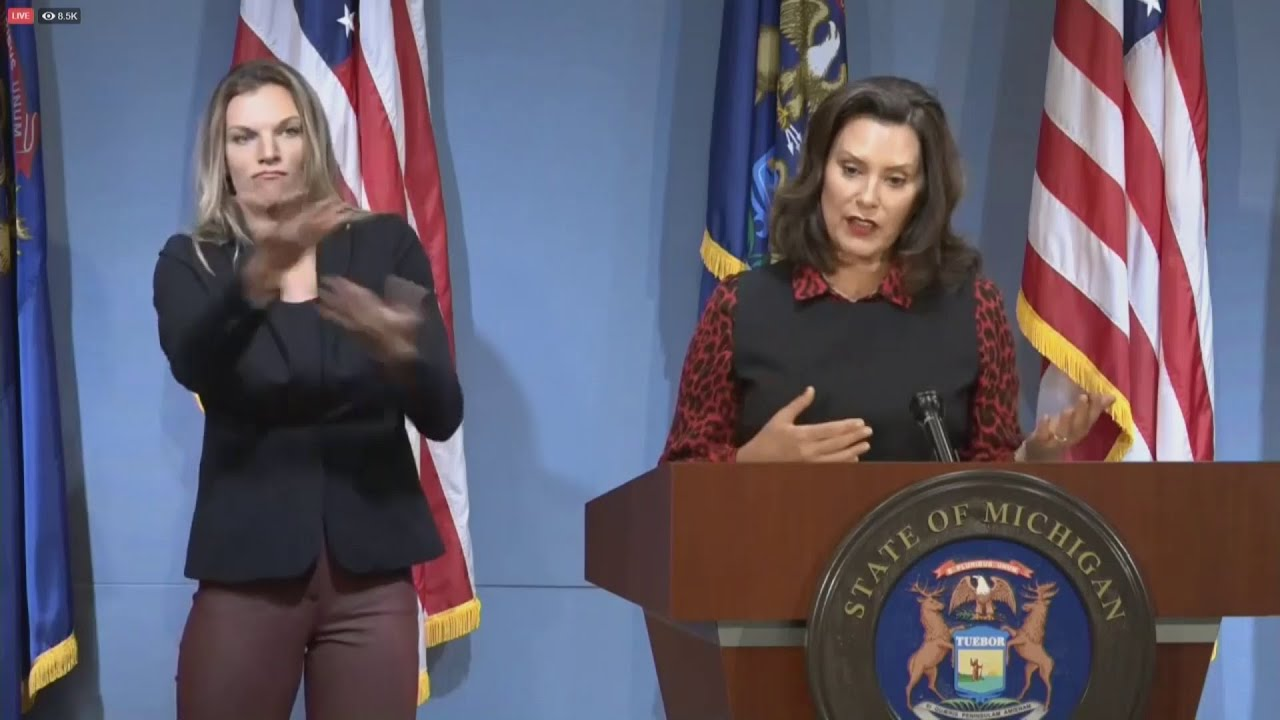 Gretchen Whitmer Reveals Fall School Plans Announces No Phase 5 Press Conference June 30 2020 Youtube