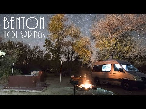 Van Life - Personal hot spring at Benton Hot Springs - Best Van Camping!