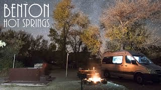 Van Life - Perṡonal hot spring at Benton Hot Springs - Best Van Camping!