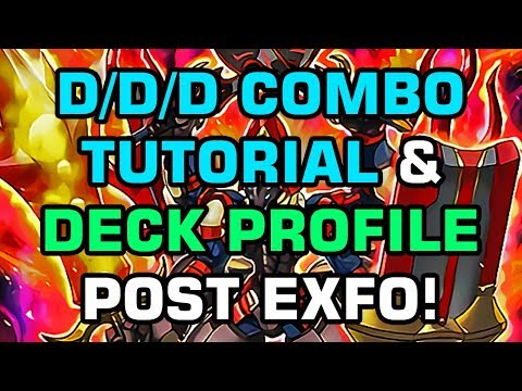 Yu-Gi-Oh! 5 D/D/D Combos Tutorial & Deck Profile POST EXFO!