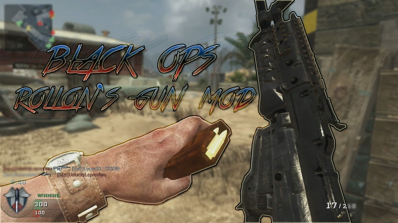 Call Of Duty Black Ops 1 Rollons Gun Mod Raygun On Multiplayer