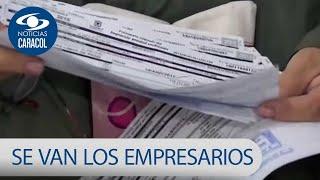 Empresarios colombianos estarían dejando el país por la carga tributaria | Noticias Caracol