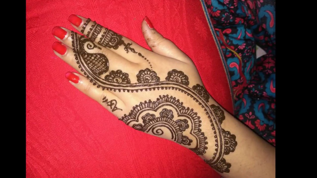 Latest Simple Arabic Mehndi Designs For Hands 2017 Images