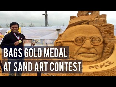 Sudarsan Pattnaik bags gold medal at sand art contest in Moscow