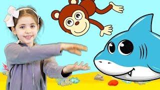 Catalina Monkey Baby Shark | Kid Songs and Nursery Rhymes (videoclip) Part 2