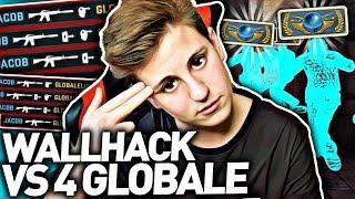 WALLHACK vs 4 GLOBAL ELITE w CSGO! Jacob z Widzami o KOSĘ w CS:GO! Gra o Skiny (Epicki Mod) w CS GO!