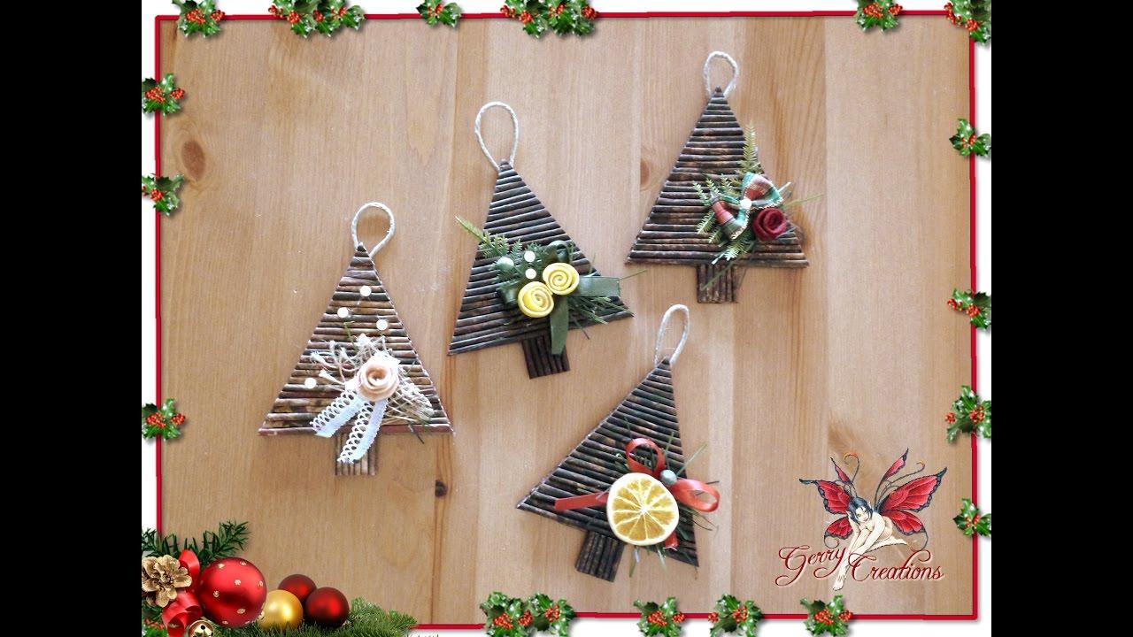 Albero Di Natale Con Cannucce Di Carta.Alberelli Natalizi