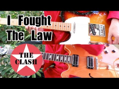 I Fought The Law - The Clash ( Guitar Tab Tutorial & Cover )