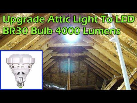 Upgrade Attic LIght to Super Bright 4000lm LED Light - SANSI BR30 35W 5000K