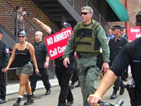 National Socialist Movement rallies downtown