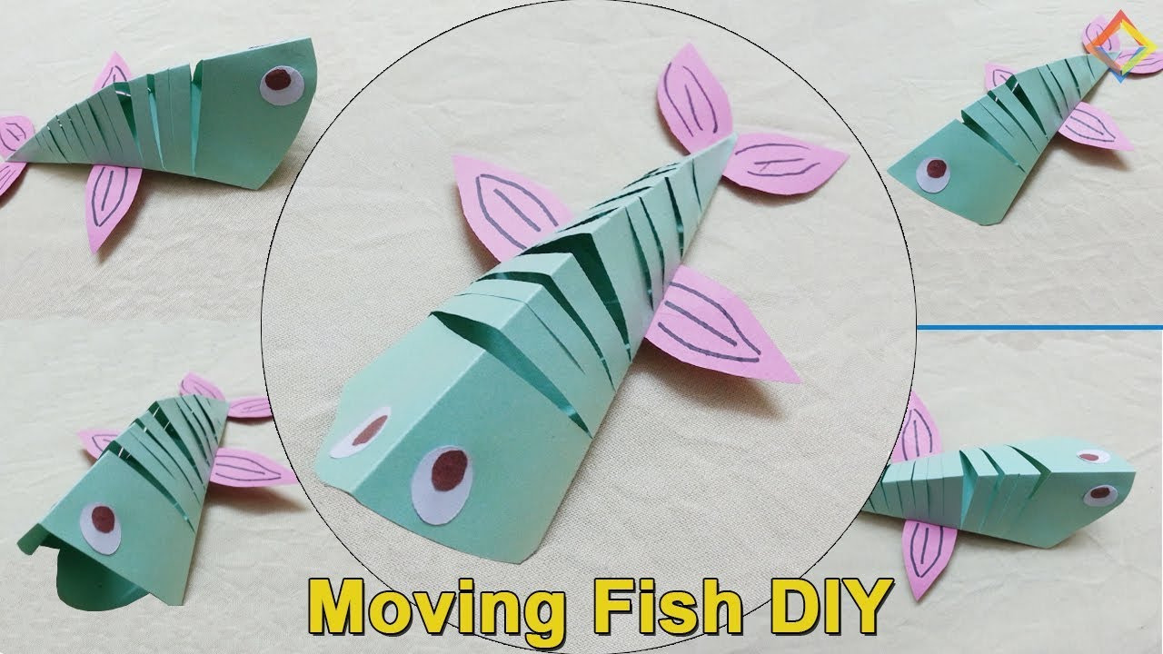 How to a make moving fish paper moving fish diy diy for How to make fish