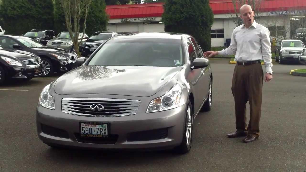 2009 infiniti g37x sedan