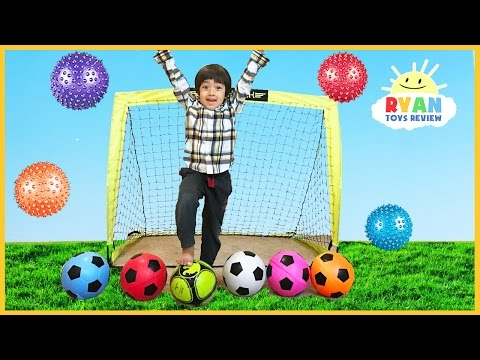 Thumbnail: Learn Colors with Balls for Children, Toddlers, and Babies! Colours for Kids with Soccers Balls