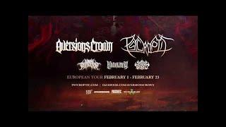 AVERSIONS CROWN - EU Co-Headline Tour w/ Psycroptic (OFFICIAL TOUR TRAILER)