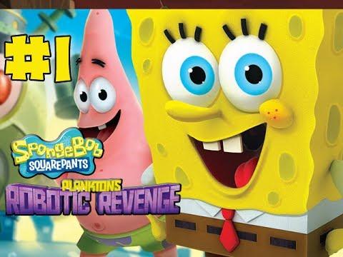 Spongebob Squarepants Plankton's Robotic Revenge - Gameplay Walkthrough - Part 1 - Intro (HD)