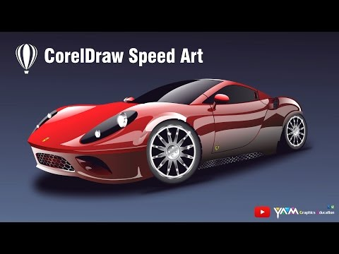 Coreldraw Speed Drawing Ferrari Car