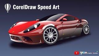 Coreldraw Speed Drawing Ferrari Car