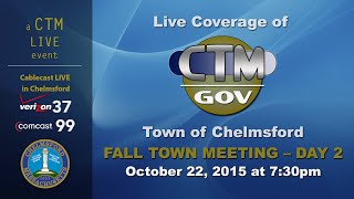 Fall Town Meeting Day 2, October 22, 2015