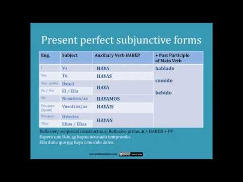 The Spanish Present Perfect Subjunctive: Forms and Uses