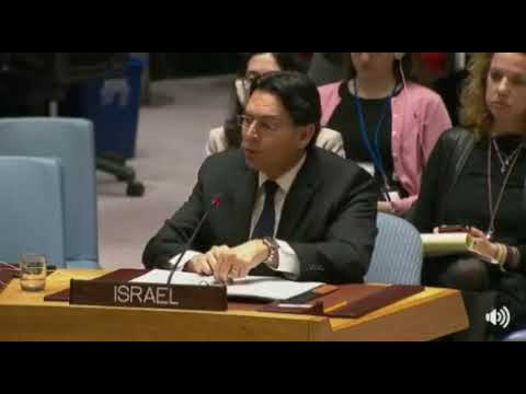 Danny Danon - To the United Nations Security Council, Jerusalem explained.