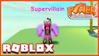 JE SUIS UN SUPER VILLAIN ! Simulateur de puissance Roblox
