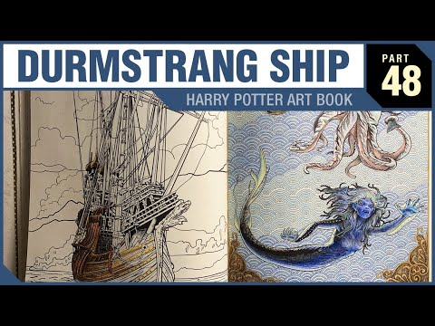 Durmstrang Ship Harry Potter Art Book Part 48 Youtube Sailing ship floating on the sea waves. youtube
