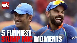 5 Most Funniest & Savage Stump Mic Comments in Cricket | MS Dhoni 👌
