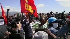 """Foggia, lo sciopero dei migranti con Aboubakar Soumahoro: """"Nei campi mancano diritti, non braccia"""""""