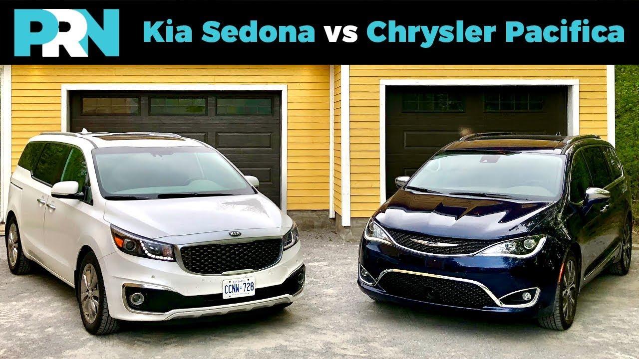 Kia Sedona Vs Chrysler Pacifica Testdrive Spotlight