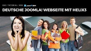 Eine Webseite erstellen mit Joomla! und Helix3 in Deutsch