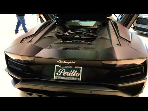 2018 Lamborghini Aventador S in Nero Nemesis at Lamborghini Gold Coast