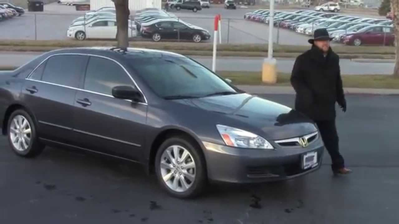 Used 2007 Honda Accord Ex L V6 For At Cars Of Bellevue An Omaha Dealer