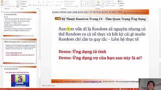 [Khóa Học Lập Trình C#.NET] - Kỹ thuật Random trong lập trình C# và tầm quan trọng (Video 35/49)