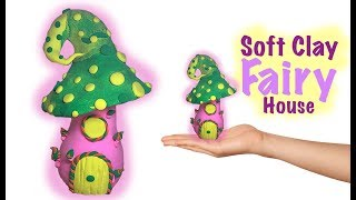 How To Make a Soft Clay Fantasy Mushroom, Magic Mushroom, toadstool, Fairy Mushroom House