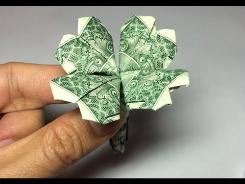 how to make a shamrock out of a dollar bill