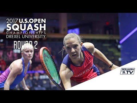 Squash: Women's Round 2 Roundup Pt. 1 - U.S. Open 2017