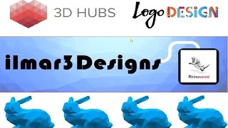 Simple logo design in Rhino - 3D HUBS local printing service