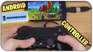 FORTNITE ON HANDY ANDROID, DOWNLOAD CODES, PS4 CONTROLLER | Fortnite Mobile English English Download