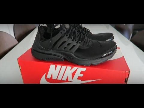 c2a1f978327d2b HD Close Up Nike Air Presto Triple Black Unboxing - YouTube