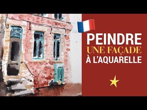 Une façade à l'aquarelle au style expressionniste - VERSION FRANÇAISE