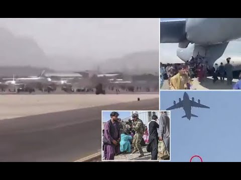 KABUL AIRPORT CHAOS: Afghans RUN OVER By Jets And More PLUNGE To Their DEATHS From Fuselage!!